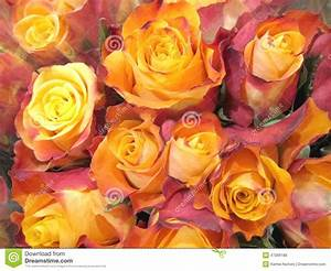 Orange Yellow Rose Bouquet