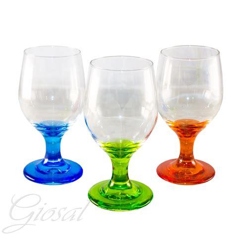 Bicchieri A Calice Colorati by Set Di Bicchieri Noemi Calice Acqua Vetro Trasparente