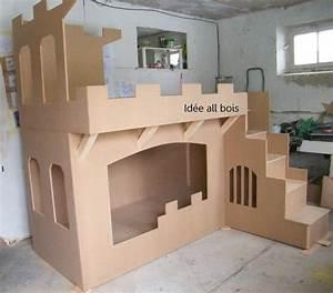 17 meilleures idees a propos de chateau en carton sur for Lit cabane en carton