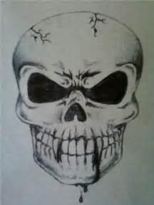 Scary Skull Drawings