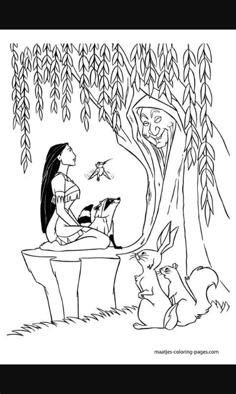 Grandmother willow | tribal tattoos | Disney coloring pages, Coloring pages, Disney princess