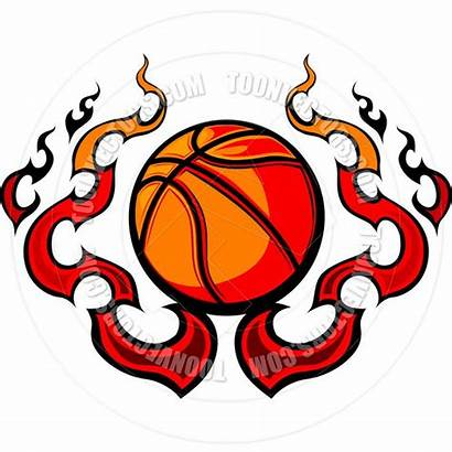 Basketball Template Printable Clipart Flames Vector Templates