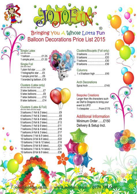 balloon decorations london tel    images
