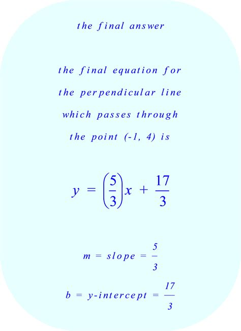 Equation Of Perpendicular Line Through A Point Calculator