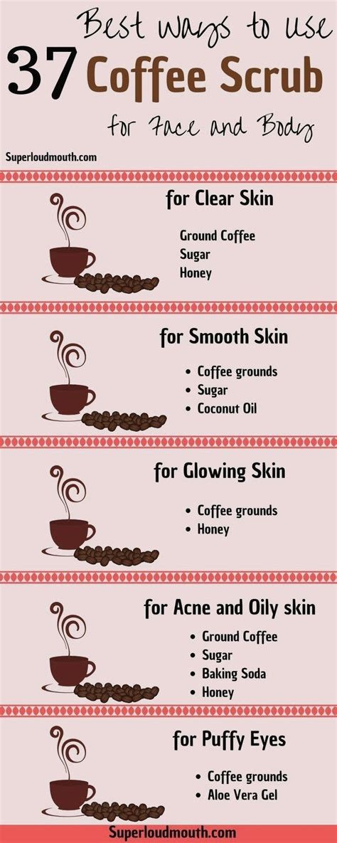 Ubtan when applied regularly on the skin, it can reduce tanning, cellulite. Ingesting a espresso often is the best time.   Coffee scrub diy