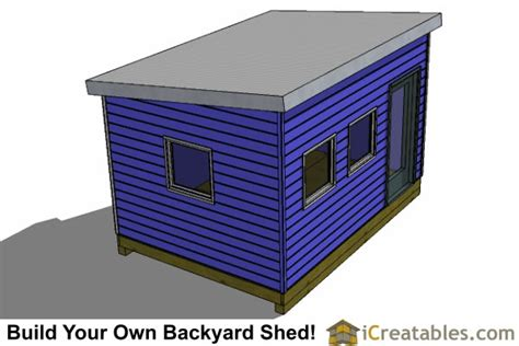 10x14 modern shed plans office shed plans studio shed