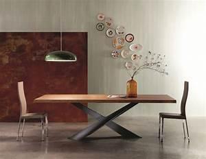 Esstisch Holz Modern : moderner esstisch aus holz naturbelassene tischplatte ~ Michelbontemps.com Haus und Dekorationen