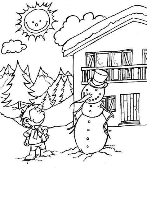 printable snowman coloring pages  kids