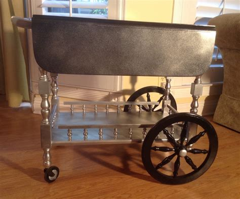 See more ideas about coffee carts, coffee truck, food cart. Cowboy Blinged Rolling Bar Carts Wooden Serving Tea Coffee Cart on Wheels - Haute Juice