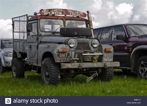 jeep gypsy vintage austin gipsy gypsy jeep in field stock photo