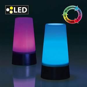 Lampe Philips Living Colors : 2er set led lampe stimmungslicht farbwechsel 7 farben ~ Dailycaller-alerts.com Idées de Décoration