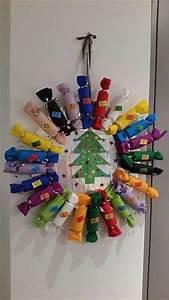Calendrier Avent Rouleau Papier Toilette : couronne calendrier de l 39 avent en rouleaux de papier toilette guide astuces ~ Farleysfitness.com Idées de Décoration
