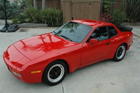 turbo porsche red 1986 porsche 944 turbo red buy classic volks