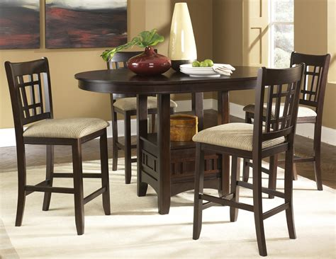 Oval Pub Table & 24 Inch Upholstered Bar Stool Set By