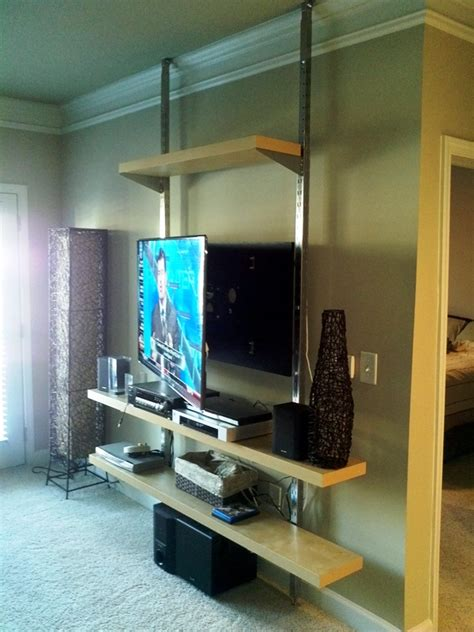 apartment living room decorating ideas on a budget how to create a floor to ceiling tv entertainment center