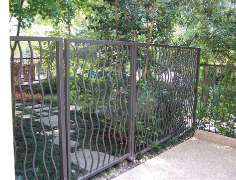 modern iron fence designs iron fence modern home fencing and gates dallas by aruba iron works