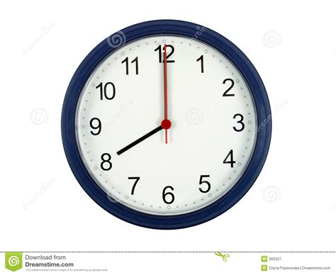 bureau travail a vendre horloge affichant 8 heures photographie stock libre de