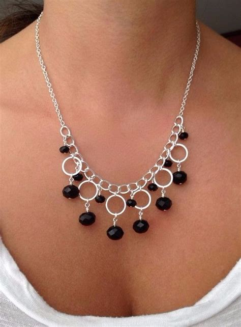 How To Make Silver Necklace With Circle Components