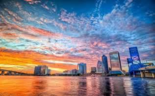 Jacksonville Florida Skyline Sunset