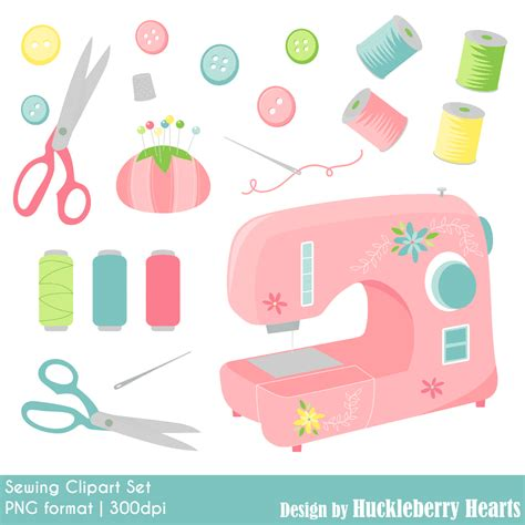 Sewing Clip Sewing Clipart Huckleberry Hearts