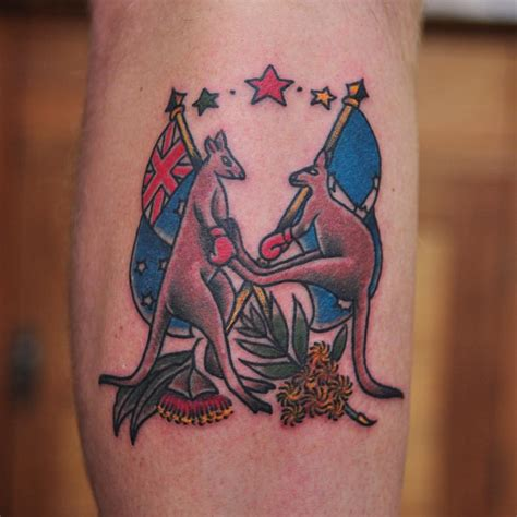 traditional kangaroo tattoos