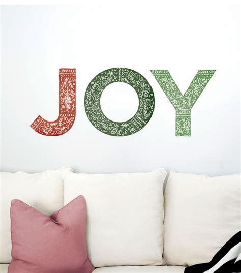 dcwv home christmas wall decal joy holiday wall decor