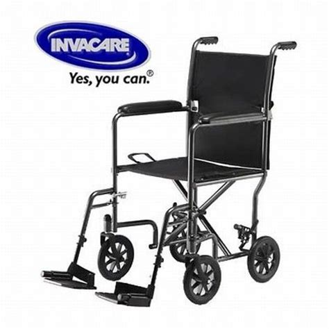 Invacare Transport Chair Manual by New Invacare Lightweight Folding Transport Wheelchair Ebay