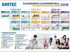Universidad Tecnológica de México Calendario Escolar 2018