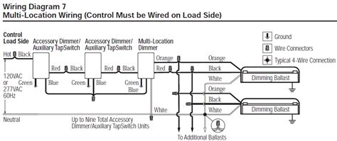 Ceiling Fan Lutron 3 Way Dimmer Wiring Diagram by Lutron Spsf 6am 277 Wh Spacer System 277v 6a Fluorescent