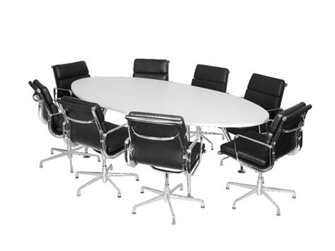 oval office conference boardroom table white
