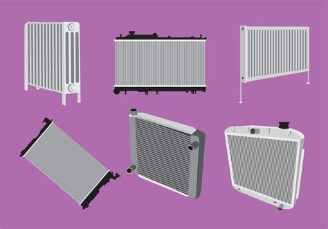 Various Type Of Radiator Vector
