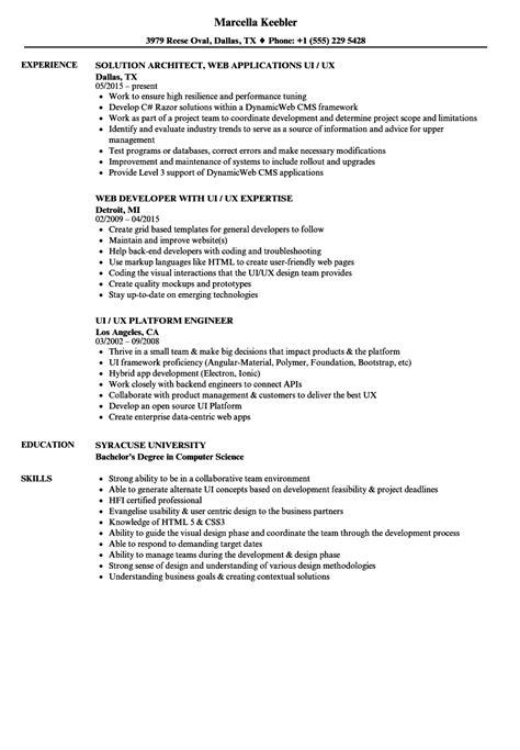 Ui  Ux Resume Samples  Velvet Jobs