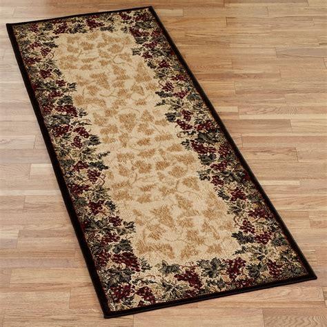 kitchen rugs beaujolais ii grape rug runner
