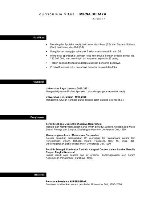membuat application letter bahasa indonesia