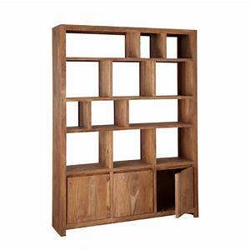 étagère Bibliothèque Bois : meuble bibliotheque stockholm etagere en bois de sheesham ~ Teatrodelosmanantiales.com Idées de Décoration