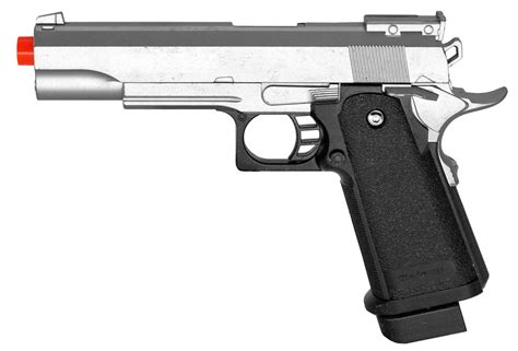 silver charger galaxy g6 metal 1911 style airsoft pistol silver