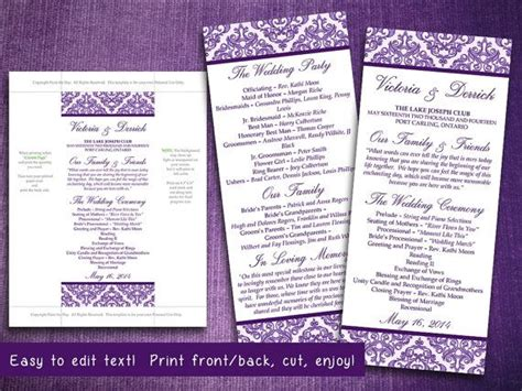 modern wedding program templates 30 images of modern wedding program template tonibest