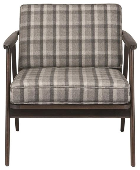 gray plaid 1 seater sofa midcentury armchairs and