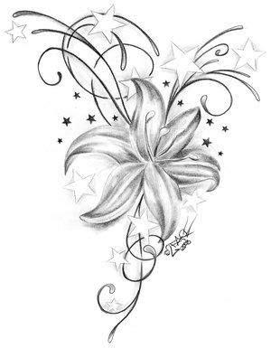 Tattoo Bilder – Tattoo Vorlagen » Lilien Tattoo Motive
