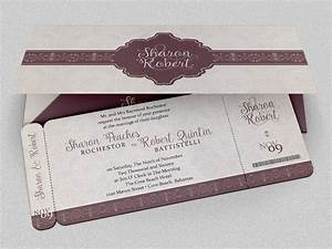 Wedding boarding pass invitation template on behance for Wedding invitation jacket templates