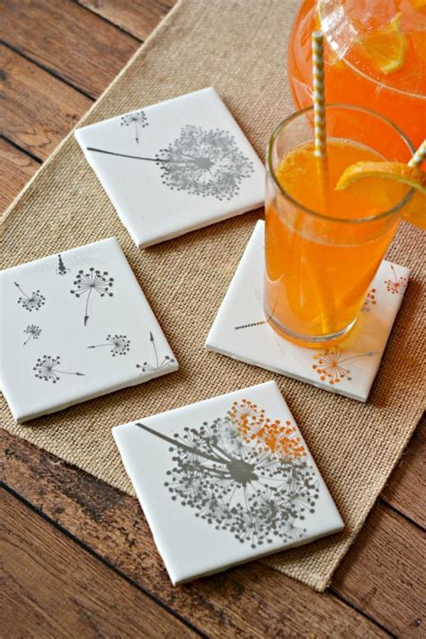 easy diy tile coasters gift girls night  craft divine