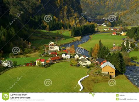 flam valley norway stock image image