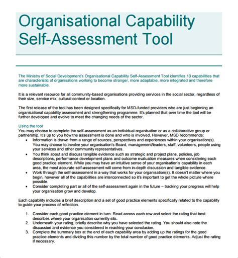 sample organizational assessment template