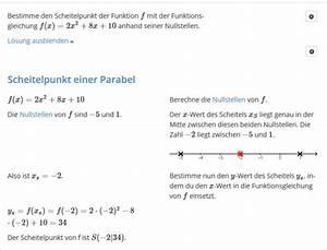 Nullstelle Berechnen Quadratische Funktion : nullstellen berechnen mit pq formel mathelounge ~ Themetempest.com Abrechnung