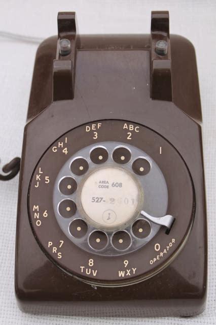 retro  vintage rotary dial phone brown telephone