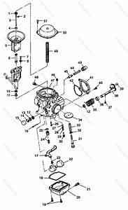 Polaris Atv 1998 Oem Parts Diagram For Arburetor W98h50a D