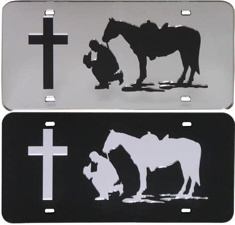 Praying Cowboy License Plate