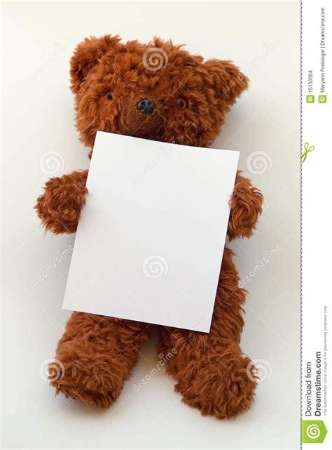 Blank Billboard teddy bear holding blank message paper  board stock 960 x 1300 · jpeg