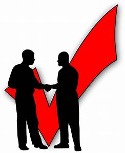 Clipart - Shaking hands - Business People Who - Checkmark