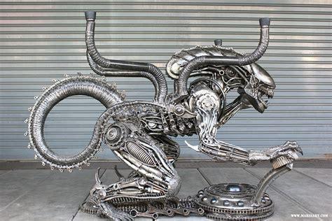 Alien Table Scrap Metal Artwork  Alien Movie